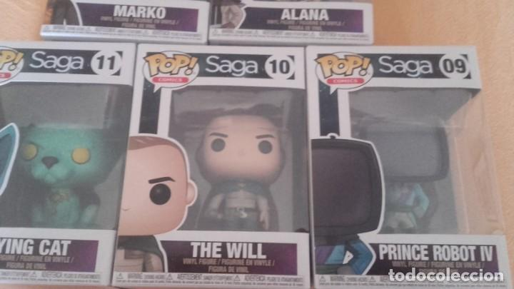 Cómics: lote funko- SAGA DE VAUGHAM Y STAPLES - 5 FIGURAS - THE WILL LYING CAT MARKO ALANA PRINCE ROBOT IV - Foto 2 - 131790594