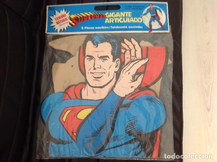 MUY DIFÍCIL SUPERMAN ARTICULADO EN CARTONÉ 1,60 CM AÑO 1979 EDICIONES POLEN ROMAGOSA (Tebeos y Comics - Comics Merchandising)