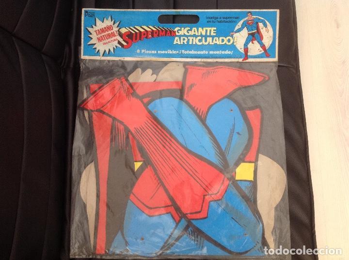 Cómics: Muy difícil Superman articulado en cartoné 1,60 cm año 1979 Ediciones Polen Romagosa - Foto 2 - 133283042