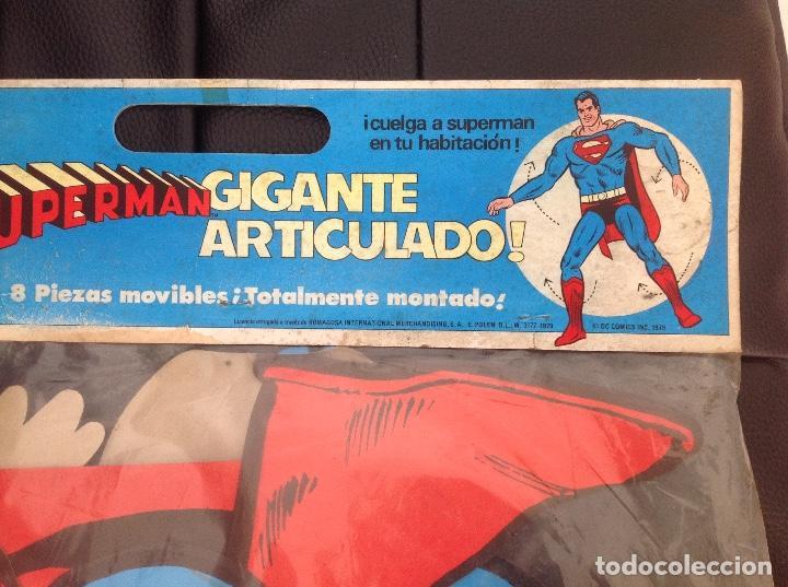 Cómics: Muy difícil Superman articulado en cartoné 1,60 cm año 1979 Ediciones Polen Romagosa - Foto 4 - 133283042