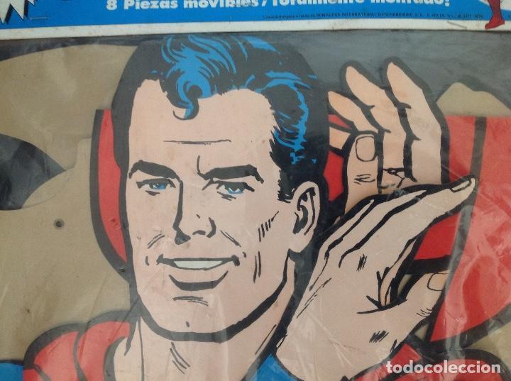 Cómics: Muy difícil Superman articulado en cartoné 1,60 cm año 1979 Ediciones Polen Romagosa - Foto 16 - 133283042