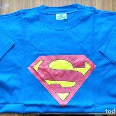 Cómics: CAMISETA SUPERMAN COLOR AZUL LOGO EN COLOR. Lote 146734334