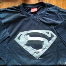 Cómics: CAMISETA SUPERMAN COLOR NEGRO LOGO EN B/N MERCHANDASING TELEPIZZA. Lote 146734466