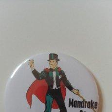 Cómics: CHAPA DE MANDRAKE EL MAGO - IMAN DE 58 MM. Lote 147144558