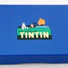 Cómics: TINTIN - 2 JUEGOS DE CARTAS EN ESTUCHE AZUL. Lote 147406090
