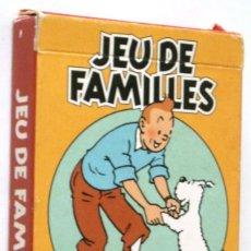 Cómics: TINTIN - CARTAS JUEGO DE FAMILIAS - EN FRANCES. Lote 147406266