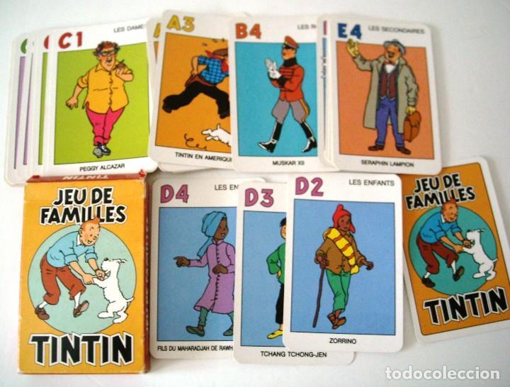 Cómics: TINTIN - CARTAS JUEGO DE FAMILIAS - EN FRANCES - Foto 3 - 147406266