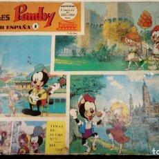 Cómics: PUZZLES PUMBY - VIAJA POR ESPAÑA 1 - PAYA EDIVAL REF. 7202 - AÑOS 70 - 3 PUZZLES EN SU CAJA ORIGINAL. Lote 147889106