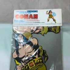 Cómics: CONAN, SUPER HEROES EN ACCION - POSTER-MOVIL CON 8 PARTES MOVILES -1980, NUEVO BLISTER. Lote 147962614