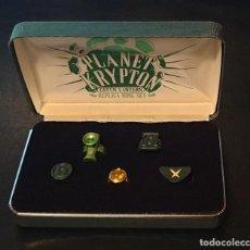 Cómics: GREEN LANTERN REPLICA RING SET. PLANET KRYPTON 2005 DC DIRECT. Lote 151137790