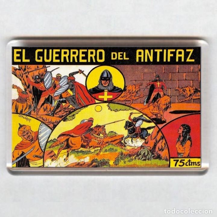 IMAN ACRÍLICO NEVERA # COMIC - EL GUERRERO DEL ANTIFAZ (Tebeos y Comics - Comics Merchandising)