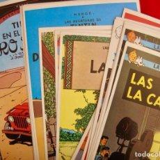 Cómics: TINTIN--COLECCION 24 POSTALES EDITORIAL JUVENTUD --LAS AVENTURAS DE TINTÍN 1981-1983--HERGÉ--NUEVAS. Lote 156485090