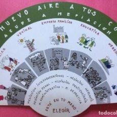 Cómics: ABANICO DE CARTULINA FIRMADO POR FRANCISCO IBÁÑEZ.. Lote 156695562