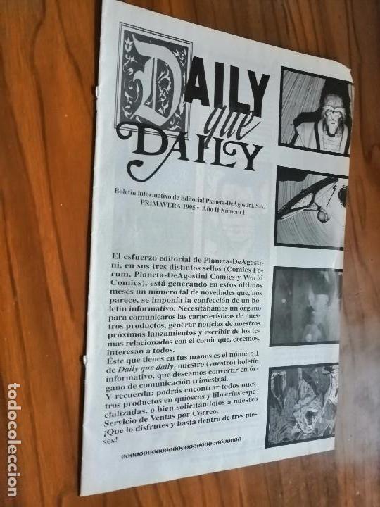DAILY QUE DAILY 1. CATÁLOGO PLANETA DEAGOSTINI. 8 PÁGINAS. BUEN ESTADO. RARO (Tebeos y Comics - Comics Merchandising)
