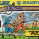 Cómics: FICHA BLEK EL GIGANTE. DOBLE CARA. PORTADA Nº 1. CATÁLOGO DEL TEBEO ESPAÑOL. Lote 165442082