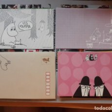 Cómics: LOS MOOMIN THE MOOMINS MUMIN LETTER SET 3 SHEETS AND 1 ENVELOPE 3 HOJAS DE CARTA Y 1 SOBRE. Lote 191092590