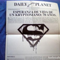 Comics : PERIODICO DE METROPOLIS DAILY PLANET ABRIL 2008 4 PGS PLANETA DEAGOSTINI. Lote 170443236