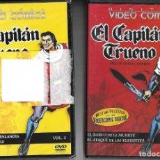 Cómics: EL CAPITAN TRUENO LOS 2 VIDEO COMIC EN DVD QUE SALIERON EN 2004, PRECINTADOS DE ORIGEN NO USADOS LEE. Lote 174234363