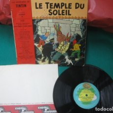 Cómics: LE TEMPLE DU SOLEI. LES AVENTURES DE TINTIN. HERGE. ADAPTATION PHONOGRAPHIQUE STRAUSS- LANGEAIS. . Lote 174284230