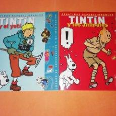 Cómics: TINTIN. PEGATINAS REPOSICIONABLES. TINTIN Y EL YETI .TINTIN Y LOS ANIMALES. EDITORIAL ZENDRERA. 2002. Lote 177568323