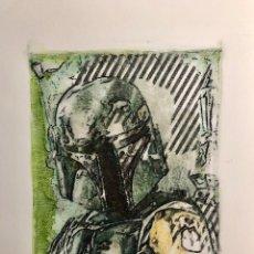 Cómics: STAR WARS BOBA FETT ARTWORK (PINTURA) BY ARTIST EMMA WILDFANG. Lote 177702002