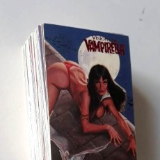 Cómics: VISIONS OF VAMPIRELLA 1995 TOPPS COMPLETE 90 BASE CARDS SET NM TRADING CARDS. Lote 177795517