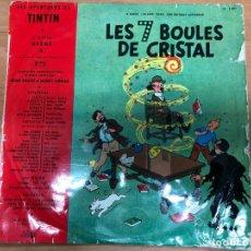 Cómics: MINI LP LAS AVENTURAS DE TINTIN LES 7 BOLAS DE CRISTAL EDITADO EN FRANCIA EN FRANCES . Lote 177889853