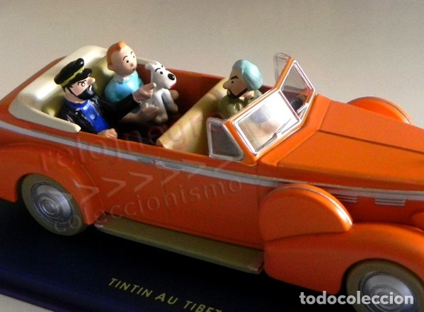 Cómics: COCHE TINTÍN EN EL TÍBET Y FIGURAS DE T. CAPITÁN HADDOCK MILÚ PERSONAJE DE CÓMIC HERGÉ TAXI CADILLAC - Foto 4 - 179176615