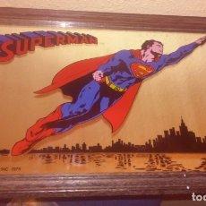 Cómics: RARO CUADRO ESPEJO SUPERMAN (© DC COMICS INC 1975). Lote 180394748