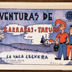 Comics : AVENTURAS DE BARRABAS Y TARUGO. FICHA/PORTADA Nº 1. BEITIA & ILLERA. NUEVA (NO ES UN COMIC). Lote 181737785