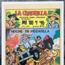 Fumetti: MI TIO Y YO (MAGA). FICHA TAMAÑO POSTAL PORTADA Nº 1. BEITIA & ILLERA. NUEVA. (NO ES UN TEBEO). Lote 182736581