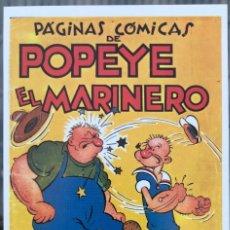 Fumetti: POPEYE (HISPANO AMERICANA 1941). FICHA TAMAÑO POSTAL PORTADA Nº 1. BEITIA & ILLERA. NUEVA. Lote 182846822
