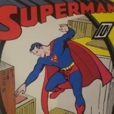 Cómics: CARTEL PUBLICIDAD CÓMICS SUPERMAN DE TC Y DC COMICS Y WB 92 X 61 CM.. Lote 183212303