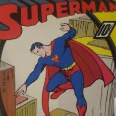 Cómics: CARTEL PUBLICIDAD CÓMICS SUPERMAN DE TC Y DC COMICS Y WB 92 X 61 CM.. Lote 183756828