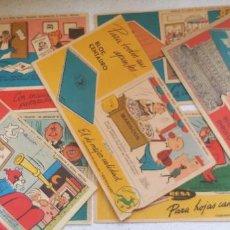 Cómics: LOTE DE 7 SECANTES DE PERSONAJES BRUGUERA DON PIO, CARPANTA, CARIOCO, CATAPLASMA, DOÑA URRACA... . Lote 183795966