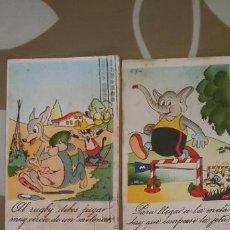 Cómics: LOTE DE CUATRO POSTALES EDITORIAL FREBO ILUSTRADAS POR CIFRÉ, CLÁSICO DIBUJANTE DE BRUGUERA. Lote 183844787