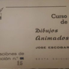 Cómics: CURSO DE DIBUJOS ANIMADOS JOSE ESCOBAR LECCIÓN Nº 15 AUTOR EN BRUGUERA CARPANTA ZIPI ZAPE. Lote 183849516