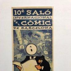 Cómics: CARTEL 10È SALÓ INTERNACIONAL DEL CÒMIC DE BARCELONA. 1992. Lote 184347806