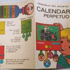 Cómics: CONSTRUYO MIS JUGUETES Nº 8 BRUGUERA CALENDARIO PERPETUO CON MORTADELO 1974. Lote 187459256