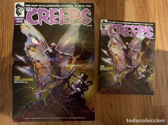 Cómics: POSTER FRANK FRAZETTA PORTADA THE CREEPS 22 - WARRANT PUBLISHING - CREEPY - Foto 2 - 187484483