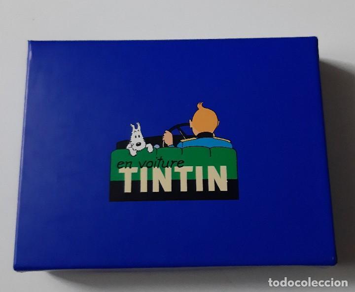 TINTIN - DOS JUEGOS DE CARTAS EN ESTUCHE AZUL - NUEVO (Tebeos y Comics - Comics Merchandising)
