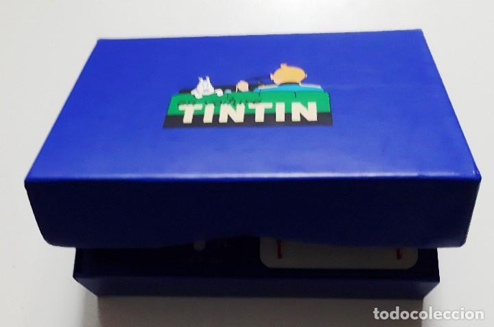 Cómics: TINTIN - DOS JUEGOS DE CARTAS EN ESTUCHE AZUL - NUEVO - Foto 3 - 188695507