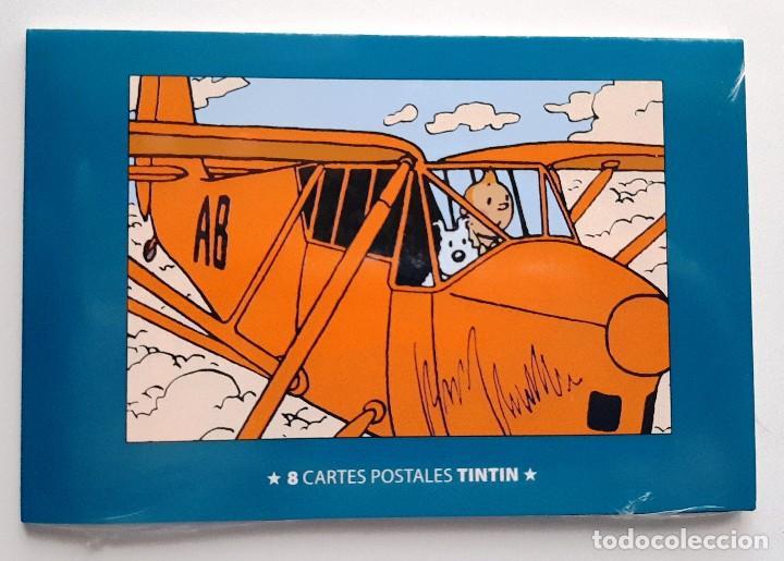 POSTAL TINTIN - OCHO POSTALES - NUEVAS (Tebeos y Comics - Comics Merchandising)