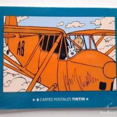 Cómics: POSTAL TINTIN - OCHO POSTALES - NUEVAS. Lote 188714267