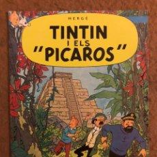 Cómics: TINTÍN I ELS PICAROS PER HERGE. TARJETA PROMOCIONAL DE LES AVENTURES DE TINTÍN. CATALÁ.. Lote 190884445