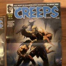 Cómics: POSTER KEN KELLY PORTADA THE CREEPS 23 - WARRANT PUBLISHING - CREEPY. Lote 190996897