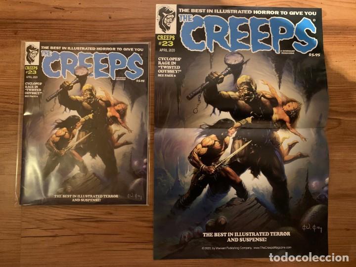 Cómics: POSTER KEN KELLY PORTADA THE CREEPS 23 - WARRANT PUBLISHING - CREEPY - Foto 2 - 190996897