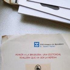 Cómics: GUIA DE LECTURA EXPOSICIÓN SOBRE EDITORIAL BRUGUERA BIBLIOTECAS DE BARCELONA 2009 . Lote 194136811