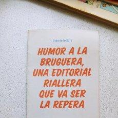 Cómics: FLIER FOLLETO GUÍA DE LECTURA HUMOR A LA BRUGUERA BIBLIOTECAS DE BARCELONA . Lote 194148283