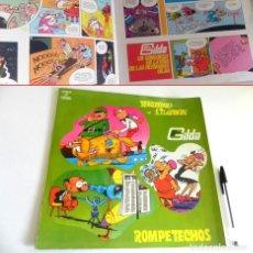 Cómics: CÓMIC DISCO DE VINILO MORTADELO Y FILEMÓN / ROMPETECHOS LAS HERMANAS GILDA - HUMOR COHETE A LA LUNA. Lote 194719056